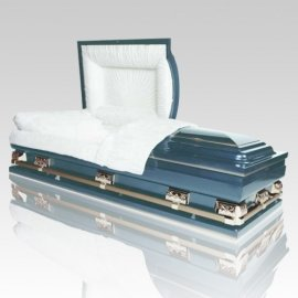 Magna Light Blue Oversized Steel Casket