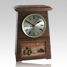 Tractor Astoria Clock Walnut Cremation Urn