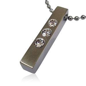 Tri Crystal Cremation Jewelry