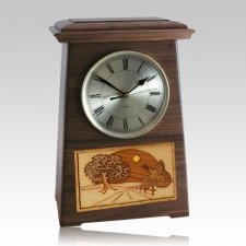 Turkey Astoria Clock Walnut Cremation Urn