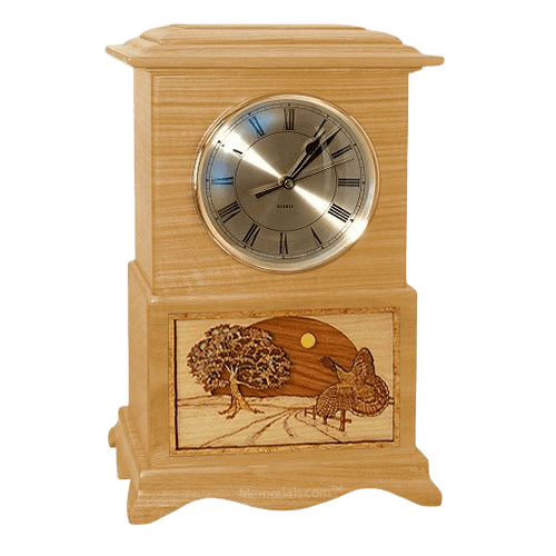Turkey Clock Oak Cremation Urn