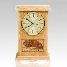 Turkey Clock Oak Cremation Urn