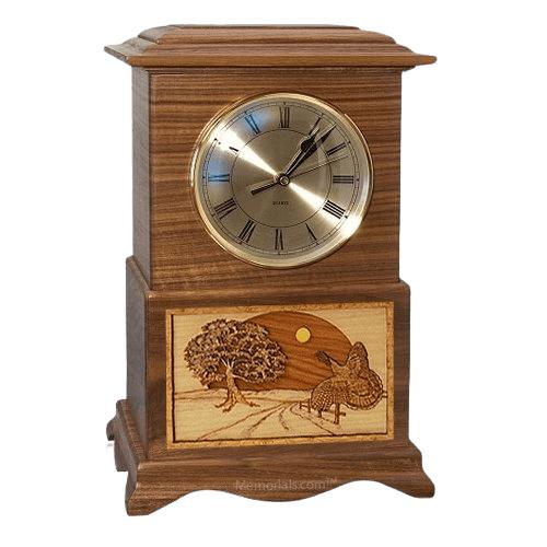 Turkey Clock Walnut Cremation Urn