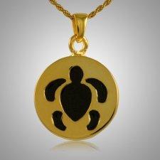 Round Turtle Cremation Jewelry IV