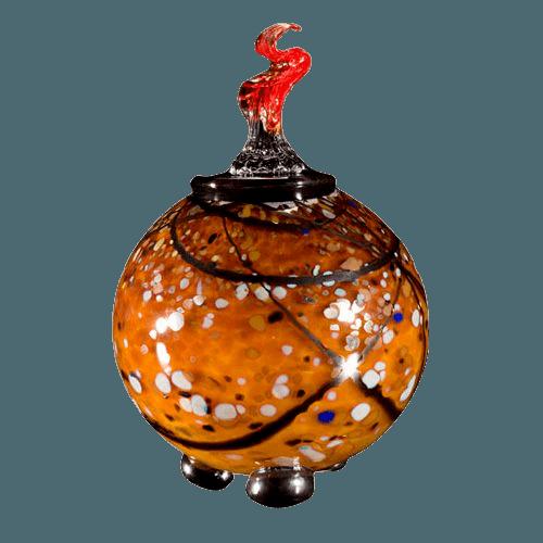 Tutto Verdigris Glass Cremation Urn
