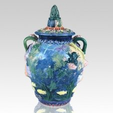 Poseidon Ceramic Cremation Urn