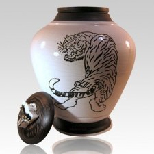 Tiger Nature Cremation Urn