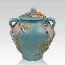 Seashell Ceramic Cremation Urn