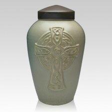 Celtic Cross Ceramic Companion Cremation Urn