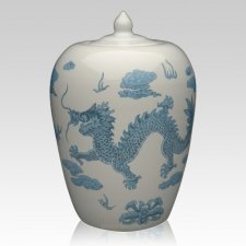 Chinese Dragon Companion Cremation Urn
