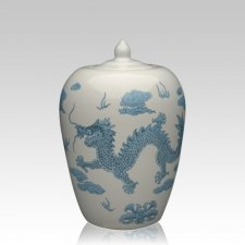 Chinese Dragon Medium Cremation Urn