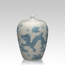 Chinese Dragon Small Cremation Urn