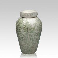Fern Raku Medium Cremation Urn