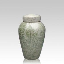 Fern Raku Small Cremation Urn