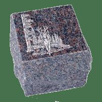 Natural Brown Granite Cremation Urn