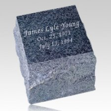 Natural Black Granite Cremation Urn