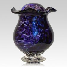 Purple Mirror Glass Companion Cremation Urn