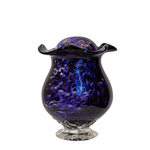 Purple Mirror Keepsake Cremation Urn
