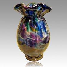 Sun Ray Glass Cremation Urn