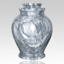 Grey Cashmere Marble Pet Urn