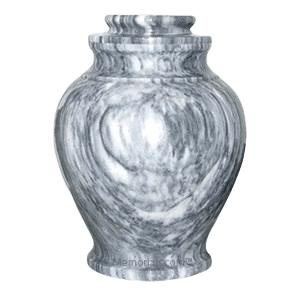 Grey Cashmere Marble Cremation Urn