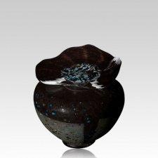 Milano Blackola Glass Keepsake Urn