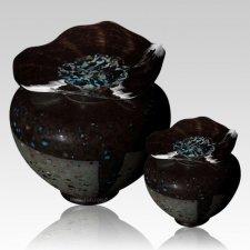 Milano Blackola Glass Cremation Urns