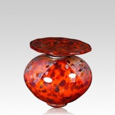 Milano Red Glass Keepsake Urn