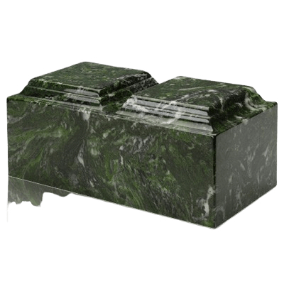 Verde Marble Companion Cremation Urn