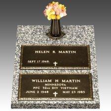 Veteran Bronze Grave Marker Top Vase