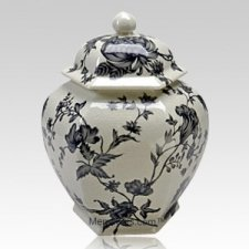 Vines Porcelain Cremation Urn