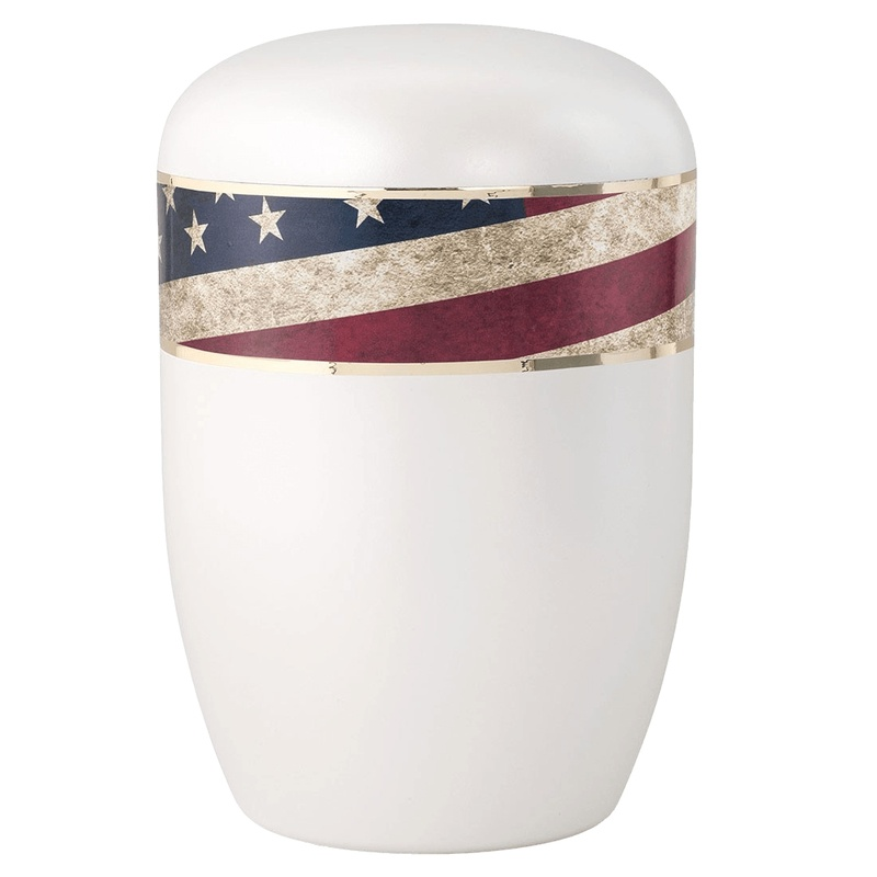 Vintage Americana Biodegradable Urn