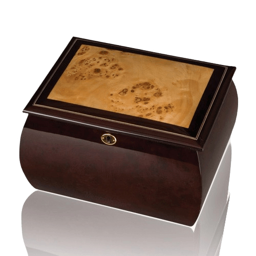 Vintage Memory Chest Wood Urn