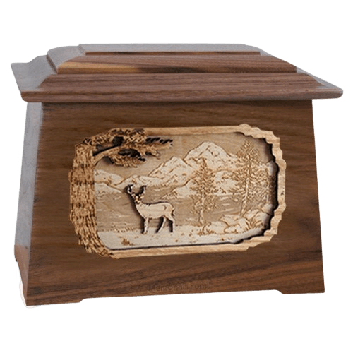 Deer Walnut Aristocrat Cremation Urn