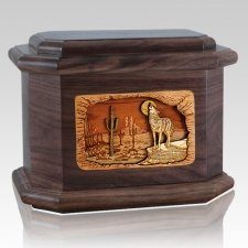 Desert Moon Walnut Octagon Cremation Urn