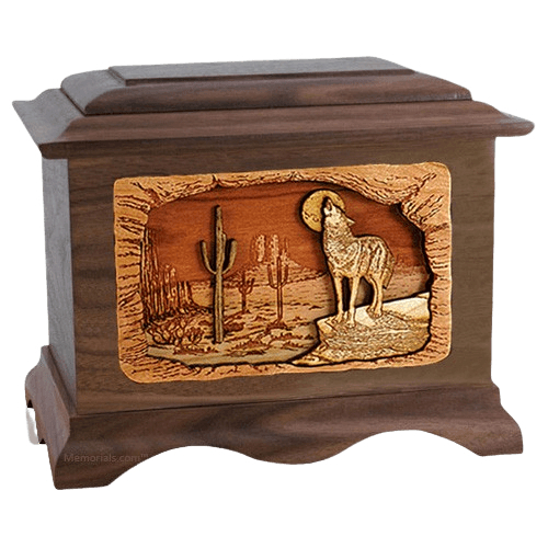 Desert Moon Walnut Cremation Urn