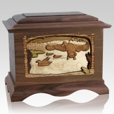 Marshland Melody Walnut Cremation Urn
