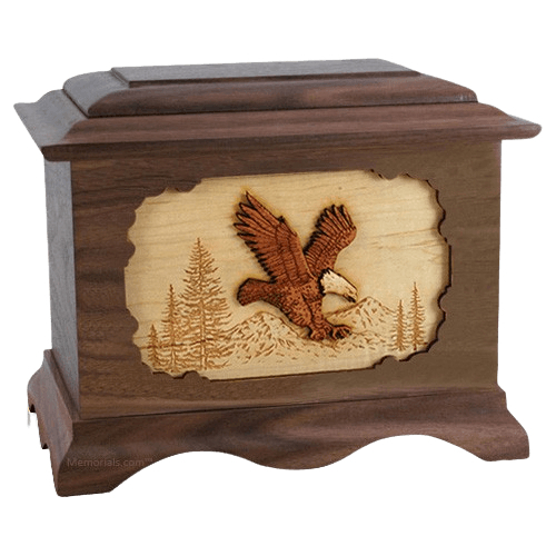 Eagle Wood Cremation Urns