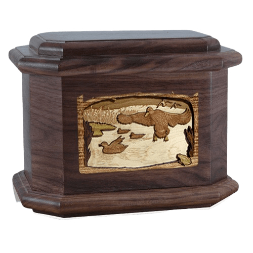 Marshland Melody Walnut Octagon Cremation Urn