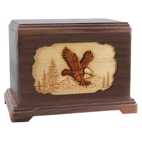 Eagle Walnut Hampton Cremation Urn