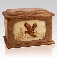 Eagle Walnut Memory Chest Cremation Urn