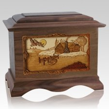 Rustic Paradise Wood Cremation Urns