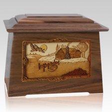 Rustic Paradise Walnut Aristocrat Cremation Urn