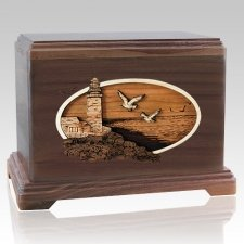 Sea Coast Walnut Hampton Cremation Urn