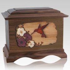 Hummingbird Wood Cremation Urns