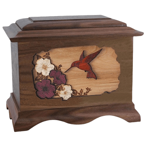 Hummingbird Wood Cremation Urns