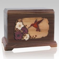 Hummingbird Walnut Hampton Cremation Urn
