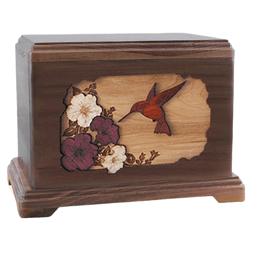Hummingbird Walnut Hampton Cremation Urn