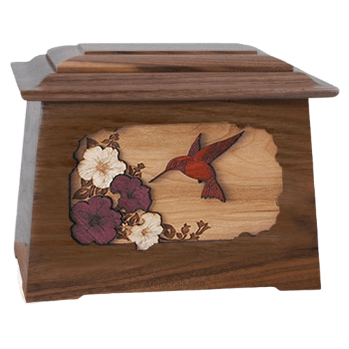 Hummingbird Walnut Aristocrat Cremation Urn