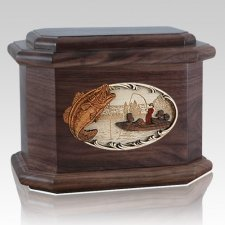 Catch of the Day Walnut Octagon Cremation Urn